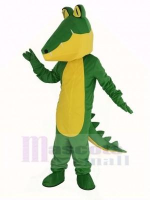 Krokodil mit Gelb Bauch Maskottchen Kostüm