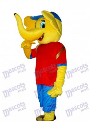 Gelber Elefant Maskottchen Erwachsener Kostüm Tier