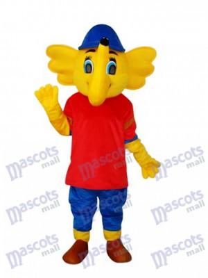 Gelb Big Elephant Maskottchen Erwachsene Kostüm Tier