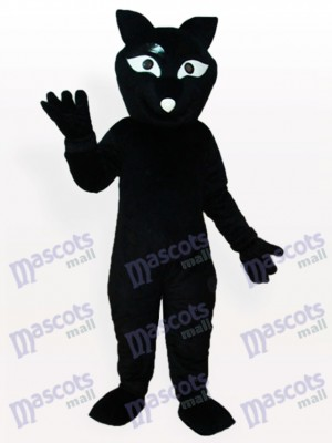 Schwarzer Fuchs Maskottchen Kostüm für Erwachsene