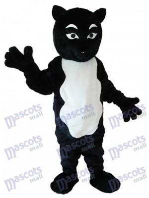 Schwarzweiss Fox Maskottchen erwachsenes Kostüm Tier