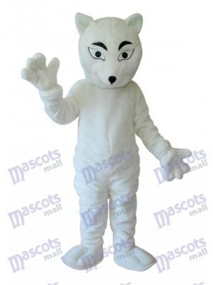 Weiß Fox Maskottchen Erwachsene Kostüm Tier