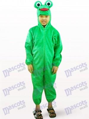 Grüner Frosch Open Face Kinder Maskottchen Kostüm