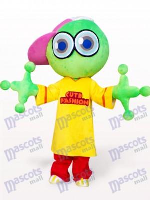 Grüner großer Hauptfrosch Maskottchen Kostüm für Erwachsene