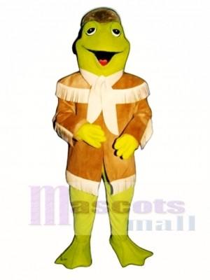 Davy Frogett mit Grenze Jacke & Hut Maskottchen Kostüm