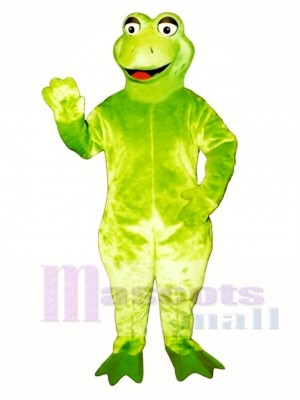 Leaping Frog Mascot Costume