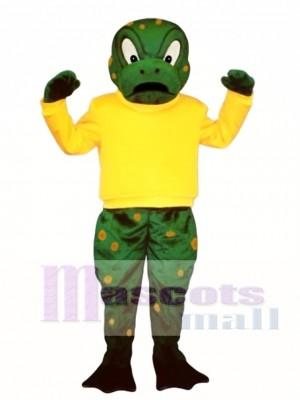 Zäh Kröte mit Shirt Maskottchen Kostüm