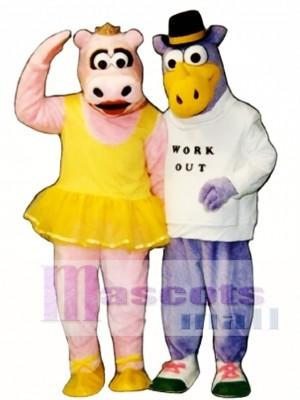 Nilpferd Dora Maskottchen Kostüm