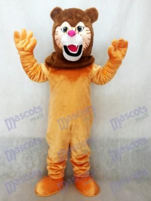 Lion Maskottchen Kostüm mit Dunkelbraun Mähne