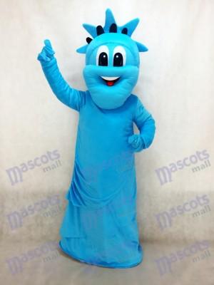 Blaue Freiheitsstatue Maskottchen Kostüm