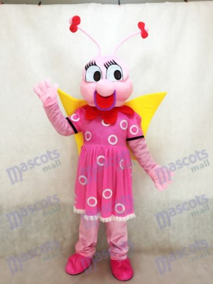 Dame Pink Bee Fenfendu Maskottchen Kostüm Insekt