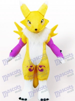 Gelb Digimon Frontier Digital Monster Anime Maskottchen Kostüm