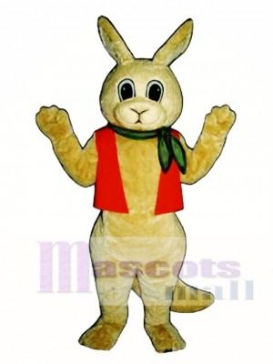 Aussie Roo Känguru mit Halstuch & Weste Maskottchen Kostüm