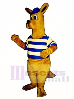 Rugby Roo Känguru mit Cap & Shirt Maskottchen Kostüm