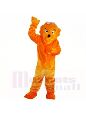 Orange Mädchen Lustig Löwe Maskottchen Kostüme Karikatur