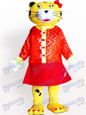 Weibliches Leopard Maskottchen Kostüm