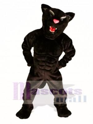 Muskel Panther Maskottchen Kostüm