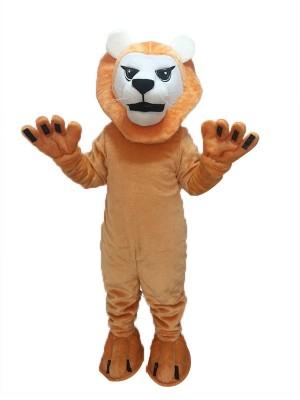 Heftiges mittleres Löwe-Maskottchen-Kostüm