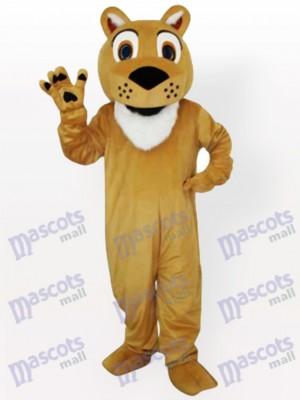 Löwe mit Piepmatz Gesicht Tier Maskottchen Kostüm