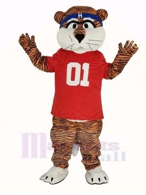 Auburn Tigers im rot T-Shirt Maskottchen Kostüm