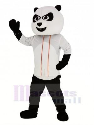 Baseball Panda mit Weiß T-Shirt Maskottchen Kostüm Tier
