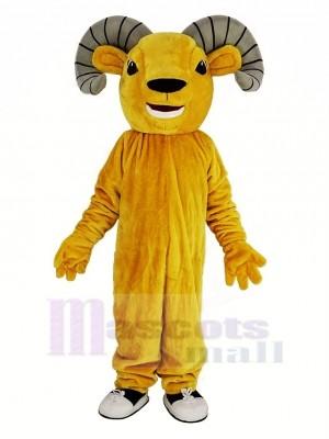 Licht Braun Sport RAM Maskottchen Kostüm Tier
