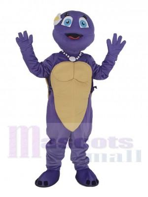 Lila Weiblich Schildkröte Maskottchen Kostüm Tier