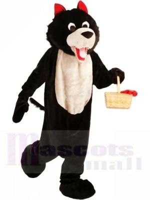 Schwarzer Wolf Maskottchen Kostüm Kostenloser Versand