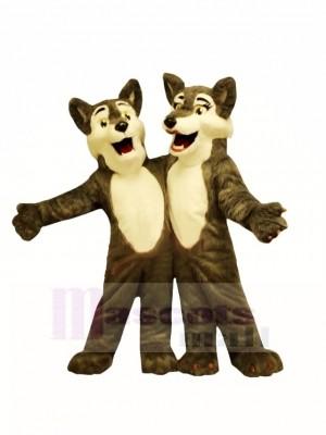 Jungen & Mädchen Wolf Maskottchen Kostüme