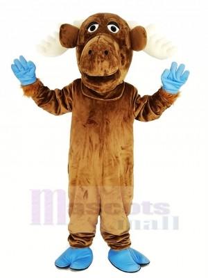 Komisch Braun Elch Maskottchen Kostüm