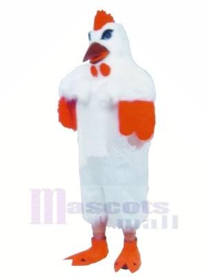 Weiß Leicht Hähnchen Maskottchen Kostüme Karikatur