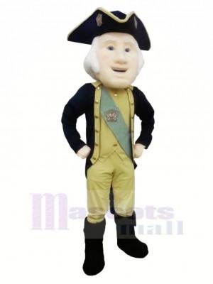 Cool George Washington Maskottchen Kostüm Karikatur