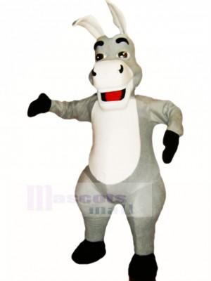 Niedlich Grau Esel Maskottchen Kostüm Karikatur