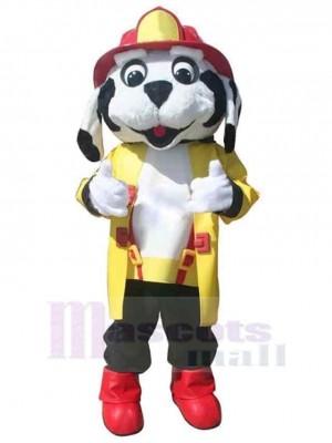 Netter Berufsfeuerhund Maskottchen Kostüm Tier