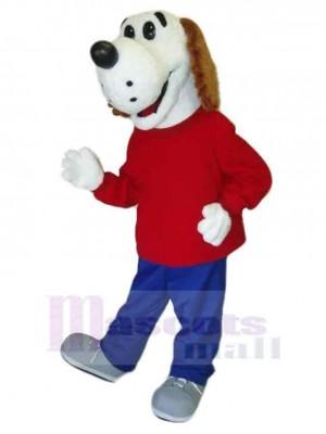 Rettungshund Maskottchen Kostüm Tier im roten Mantel