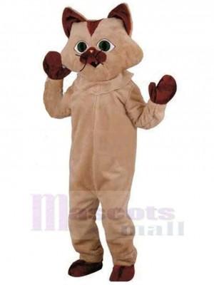 Lustige braune Katze Maskottchen Kostüm Tier Halloween
