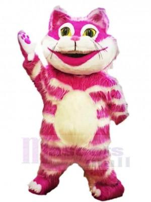 Lustige rosa Grinsekatze Maskottchen Kostüm Tier