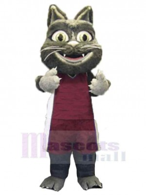 Süße pelzige Katze Maskottchen Kostüm Tier im Sportanzug