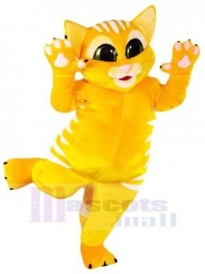 Glückliche gelbe Katze  Maskottchen Kostüm Tier