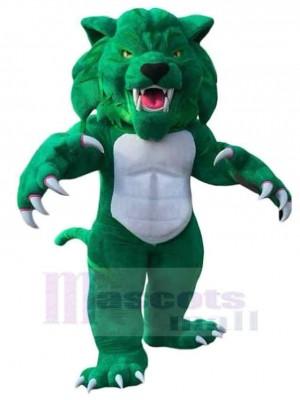 Wilde grüne Wildkatze Maskottchen Kostüm Tier
