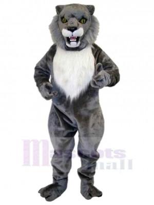 Wilde graue Wildkatze Maskottchen Kostüm Tier Erwachsene