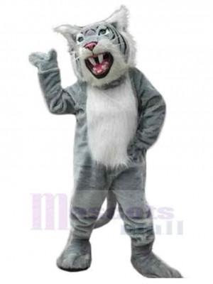 Wilde Wildkatze Maskottchen Kostüm Tier mit scharfen Zähnen