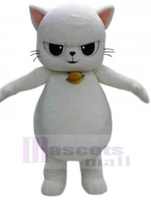 Wilde weiße Katze Maskottchen Kostüm Tier