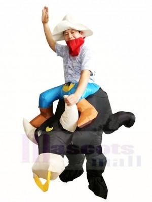 Cowboy Fahrt weiter Schwarz Stier Aufblasbar Kostüme für Erwachsene
