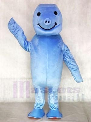 Nettes Zoo Blau Manatis Maskottchen Kostüm Tier