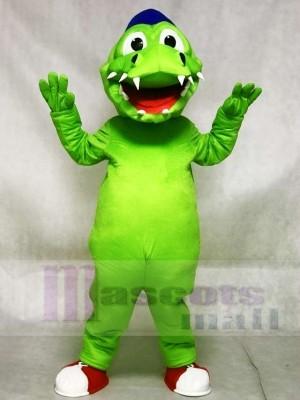 Blauer Hut Grün Krokodil Alligator Maskottchen Kostüme