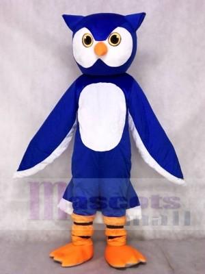 Blaues Eulen Maskottchen Kostüm Tier