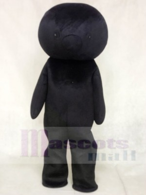 Schwarz Bär Maskottchen Kostüme kein Ohr