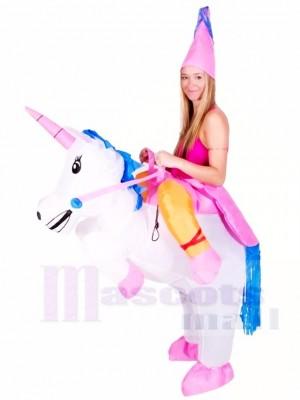 Tragen Sie mich auf Unicorn aufblasbare Halloween Weihnachts kostüme für Erwachsene
