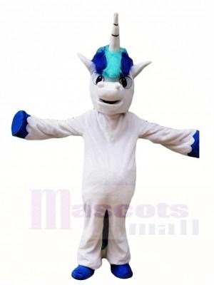 Blaues Einhorn Maskottchen Kostüm Tier